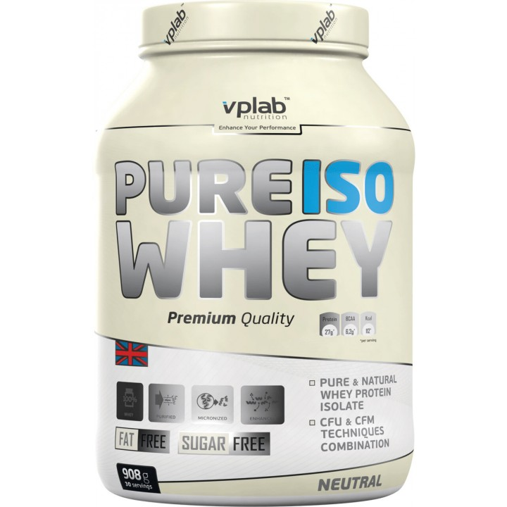Протеин изолят VPlab Pure Iso Whey (908 гр)