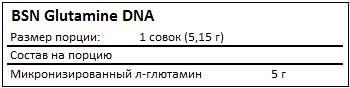 Состав Glutamine DNA от BSN