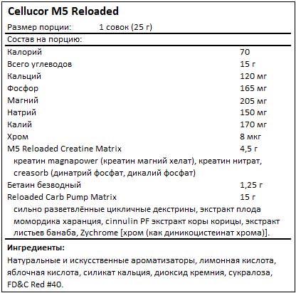 Состав M5 Reloaded от Cellucor