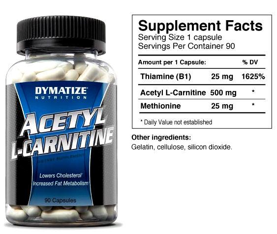 Dymatize Acetyl L-Carnitine Alcar