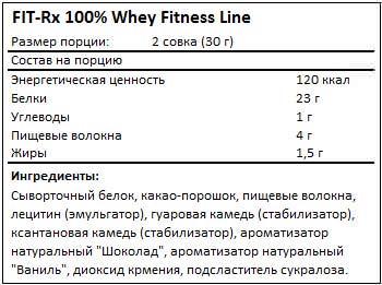 Состав 100% Whey от FIT-Rx