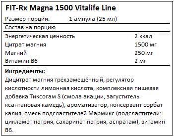 Состав Magna 1500 от FIT-Rx