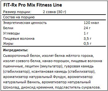 Состав Pro Mix от FIT-Rx