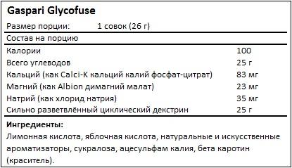 Состав Glycofuse от Gaspari