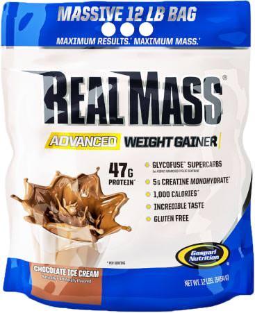 Высококалорийный гейнер Real Mass Advanced Weight Gainer от Gaspari