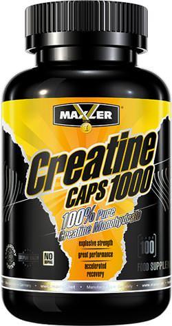 Креатин моногидрат Creatine Caps 1000 от Maxler