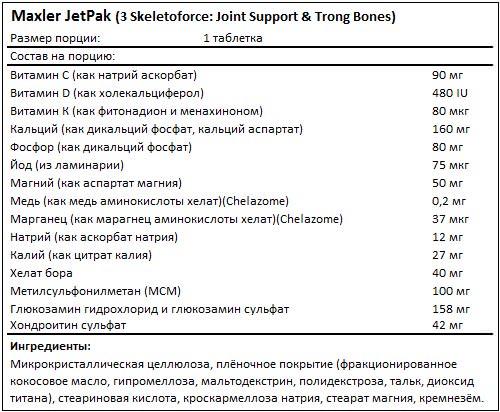 Состав JetPak от Maxler