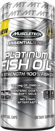 Жирные кислоты Platinum 100% Fish Oil 4x Essential Series от Muscle Tech
