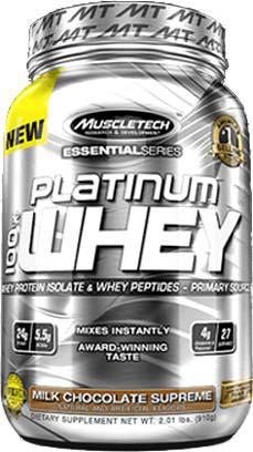 Сывороточный изолят Platinum 100% Whey Essential Series от Muscle Tech