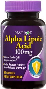 Альфа липоевая кислота Alpha Lipoic Acid от Natrol