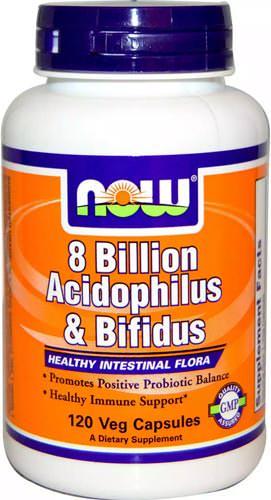 Комплекс пробиотиков для укрепления иммунитета 8 Billion Acidophilus & Bifidus от NOW