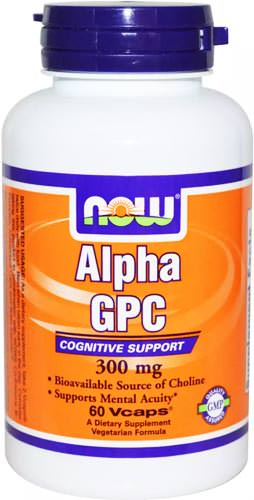 Холин Alpha GPC 300mg от NOW