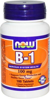 Витамин Б1 B-1 от NOW