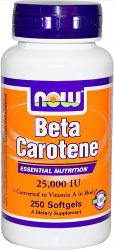 Бета-каротин Beta Carotene 25000 от NOW