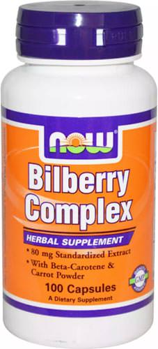 Антиоксиданты Bilberry Complex 80mg от NOW