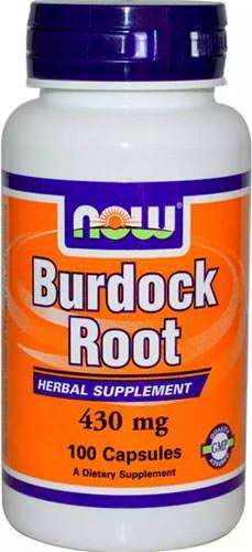 Экстракт из корня лопуха Burdock Root 430mg от NOW
