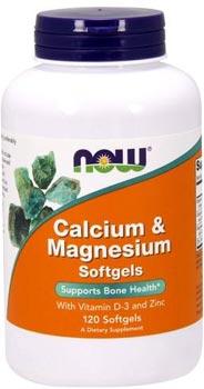 Кальций магний Calcium Magnesium Softgels от NOW