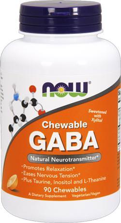 Гамма-аминомасляная кислота Chewable GABA от NOW