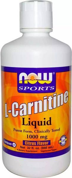 Жидкий карнитин L-Carnitine Liquid 1000mg от NOW Sports
