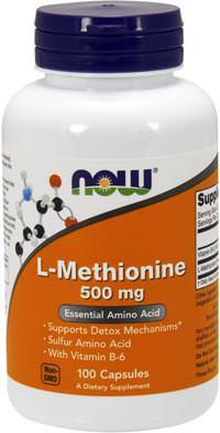 Аминокислота метионин L-Methionine 500mg от NOW
