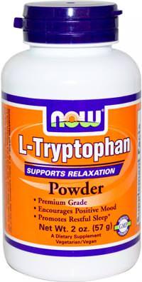Аминокислота триптофан L-Tryptophan Powder от NOW