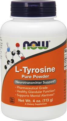 Тирозин L-Tyrosine Pure Powder от NOW