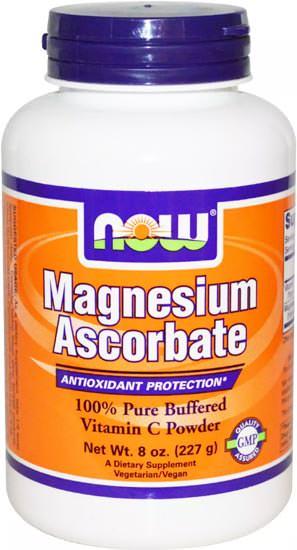 Магний с витамином С NOW Magnesium Ascorbate Powder