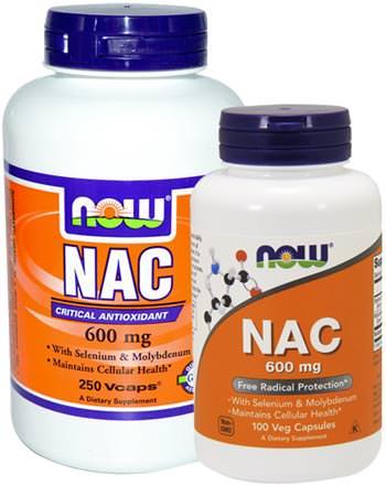 Ацетил-цистеин NAC 600mg от NOW