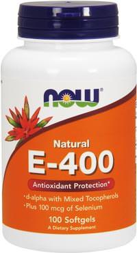 Витамин Е с селеном Natural E-400 with Selenium от NOW