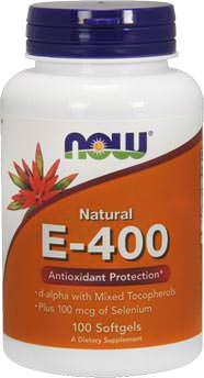 Витамин Е Natural Vitamin E-400 от NOW