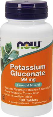 Глюконат калия Potassium Gluconate 99mg от NOW