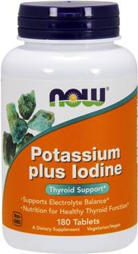 Калий с йодом Potassium Plus Iodine от NOW