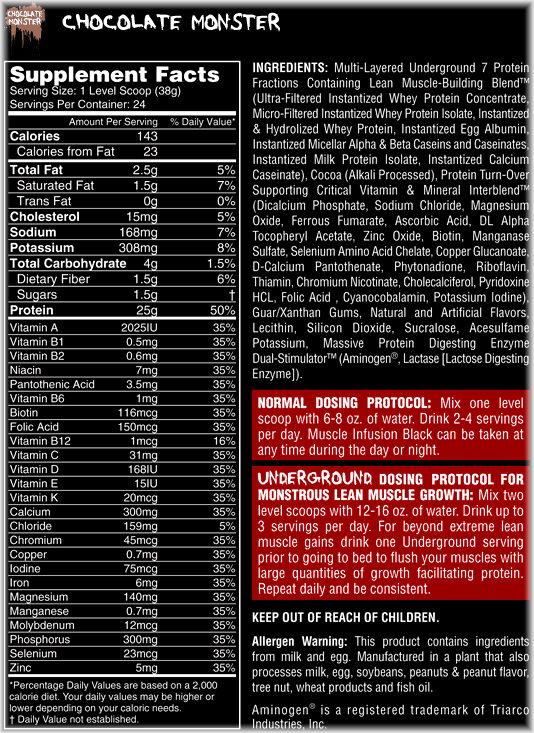 Состав протеина Muscle Infusion Black от Nutrex