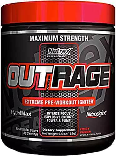 Предтренировочный комплекс Outrage от Nutrex