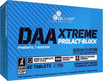 Для повышения тестостерона DAA Xtreme Prolact Block от Olimp