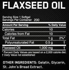 Состав Flaxseed Oil