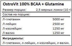 Состав BCAA + Glutamine от OstroVit