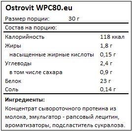 Состав WPC 80.eu от Ostrovit