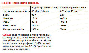 Состав Power System JOINT SUPPORT