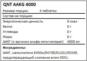 Состав AAKG 4000 от QNT