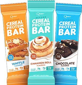 Протеиновый батончик Beyond Cereal Protein Bar от Quest