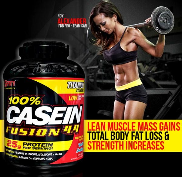 100% Casein Fusion - казеин от SAN!