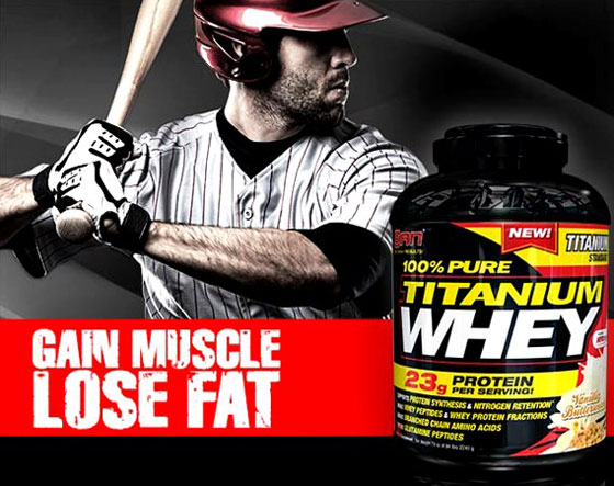 Сывороточный протеин 100% Pure Titanium Whey от SAN