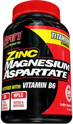 ZMA Zinc Magnesium Aspartate от SAN