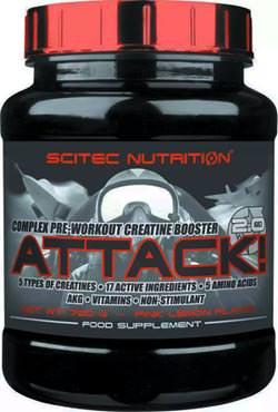 Предтренировочный комплекс Attack 2.0 от Scitec Nutrition