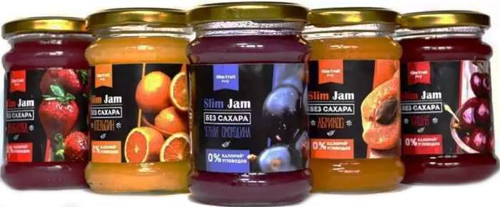 Бескалорийные джемы Slim Jam от Slim Fruit