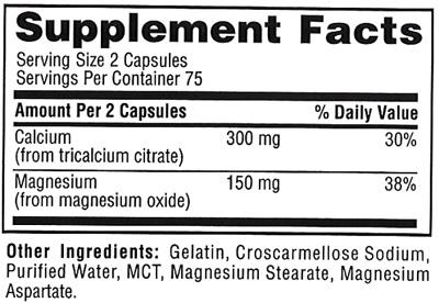 Состав Twinlab Calcium Citrate Caps