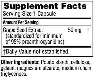 Состав Grape Seed Extract 50 мг от Twinlab