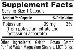 Состав Twinlab Potassium Caps