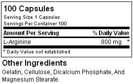 Состав Ultimate Nutrition Arginine Power